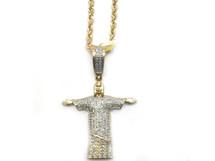 10K Gold 0.33CT Diamond Brazilian Jesus Pendant
