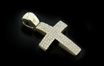 10K Gold 0.80CT Diamonds Cross
