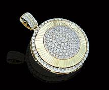 10K Gold 1.60CT Diamonds Round Pendant