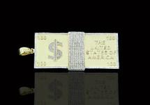 10K Gold 1.25CT Diamonds Micro 100 Stack Pendant