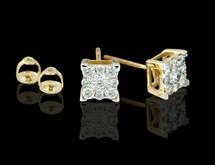 14K Gold 1.00CT Diamond Earrings