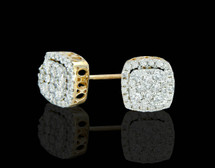 14K Gold 1.25CT Diamonds Halo Style Earrings