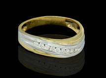 10K Gold 0.25CT Diamonds Men's Band