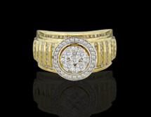 10K Gold 1.00CT Diamonds Ladies Engagement Ring