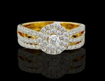 14K Gold 1.13CT Diamonds Ladies Engagement Ring Set