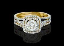 14K Gold 1.00CT Diamonds Ladies Engagement Ring.