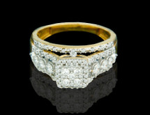 14K Gold 0.76CT Diamonds Ladies Engagement Ring