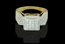 14K Gold 0.91CT Diamonds Ladies Engagement Ring