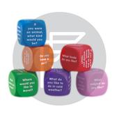 Conversation cubes to stimulate creative thinking in chldren