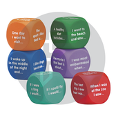 Writing prompt Cubes to stimulate creative thinking in children