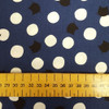 Cat and Polka Dot in NAvy, Novelty Sevenberry Japanese Cotton, from Purple Stitches UK