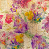 Flower Garden printed Cork Fabric, suitable for accessories sewing, from Purple Stitches UK