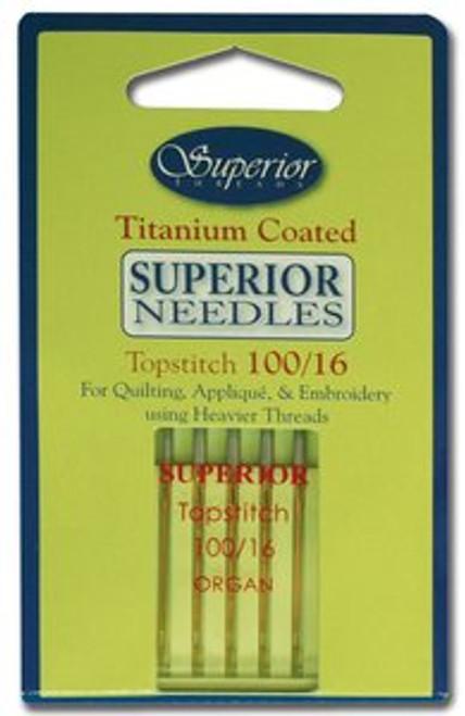 Topstitch Superior Titanium Coated Needle #100/16