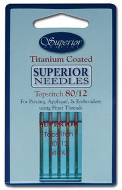 Topstitch Superior Titanium Coated Needle #80/12