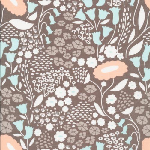 Gray Lush Lullabye - Morning Song - Elizabeth Olwen - Cloud9 Fabrics
