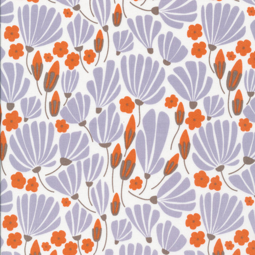 Blue Breezy Floral - Morning Song - Elizabeth Olwen - Cloud9 Fabrics