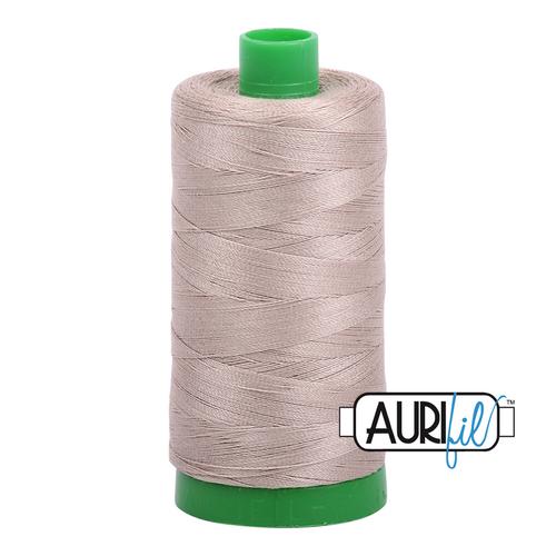 Aurifil Thread 40wt in 5011 ROPE BEIGE 100% cotton - New