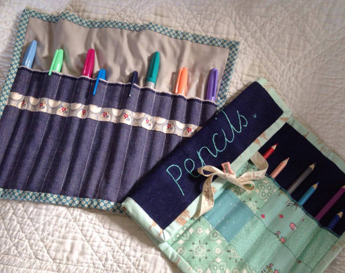 Sew a make-up / pencil wrap - Sew a Gift Workshop - 1st October 2016