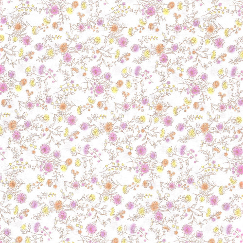 Tiny Floral in Pink and Yellow - Japanese Fabric - Sevenberry Fabric