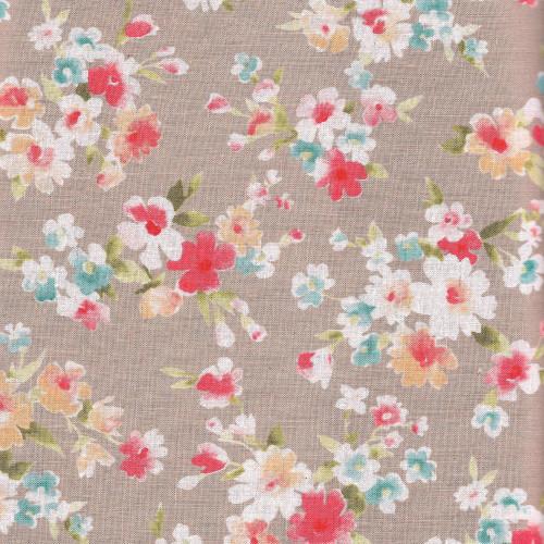 Vintage Floral in Bright - Cotton Linen Mix - Sevenberry Fabrics