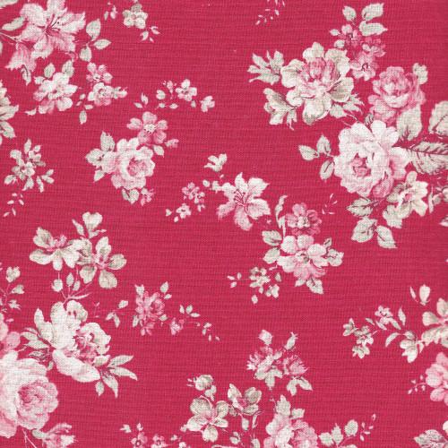 Antique Rose Red - Cotton Linen Mix - Sevenberry Fabrics