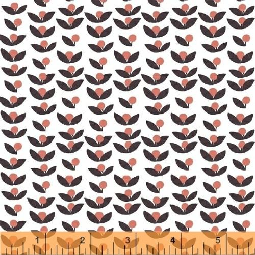 Lilla Tove Coral - Lilla - Lotta Jansdotter - Windham Fabrics