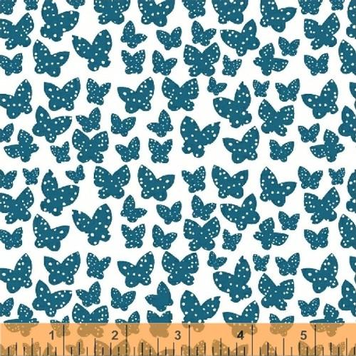 Minna Azure - Lilla - Lotta Jansdotter - Windham Fabrics