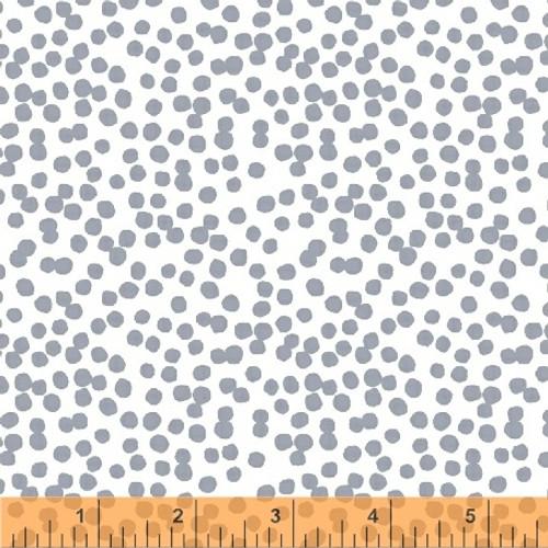 Lilla Hemendu Grey Blue - Lilla - Lotta Jansdotter - Windham Fabrics