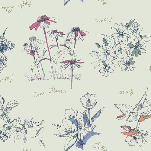 Botanical Innocence - Sketchbook - Sharon Holland - Art Gallery Fabrics