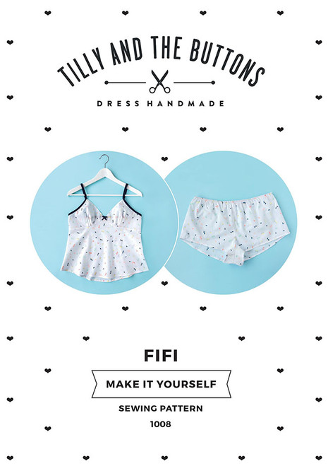 Fifi Pyjama paper pattern, dressmaking pattern from Tilly and the Button.  Available from Purple Stitches, Basingstoke, UK