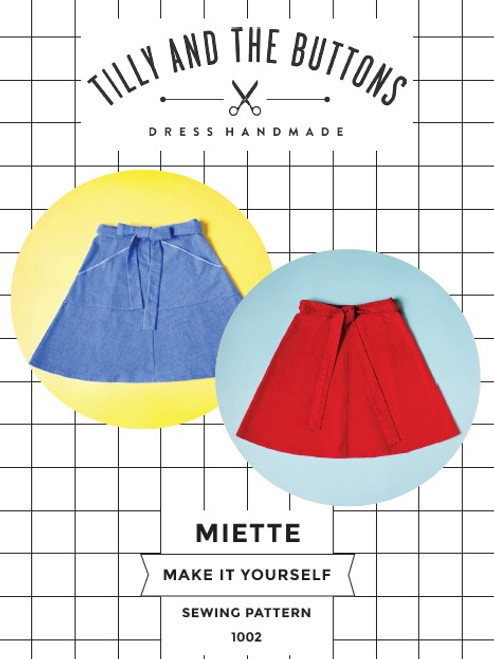 Miette skirt paper pattern, dressmaking pattern from Tilly and the Button.  Available from Purple Stitches, Basingstoke, UK