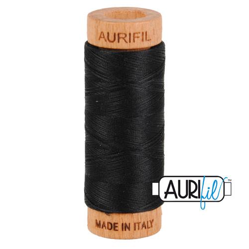 Aurifil Thread 2692 BLACK 80wt