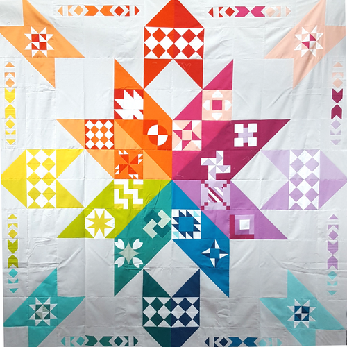 Chocolatier Block of the month by Gen X Quilter, available at Purple Stitches, UK