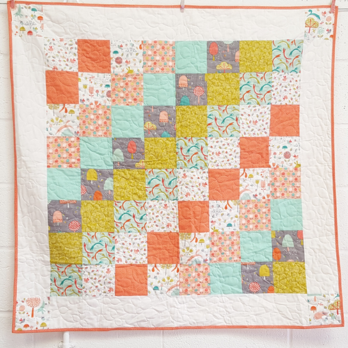 Patchwork lap quilt beginners class at Purple Stitches, basingstoke UK