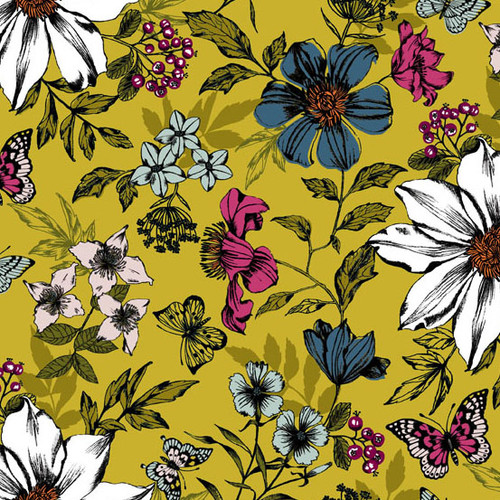 Botanica, Andover Fabrics, available from Purple Stitches, UK