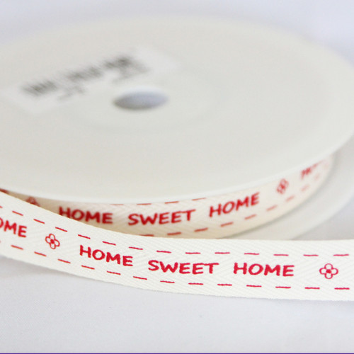 'Home Sweet Home' Ribbon - Red