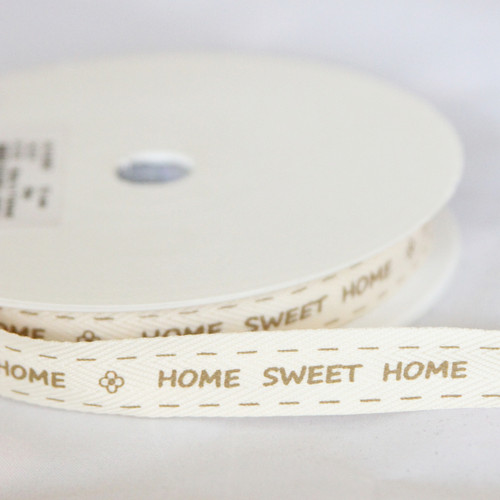 'Home Sweet Home' Ribbon - Brown