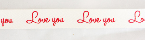 'Love You' Ribbon - Red
