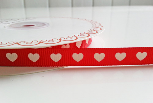 'Heart' Ribbon - Red