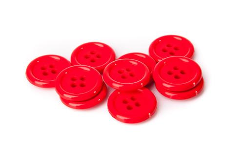 Red Shirt Button - 20mm