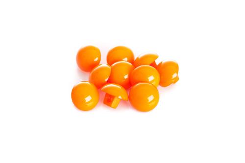 Orange Shiny Half Ball Shanked Button - 11mm