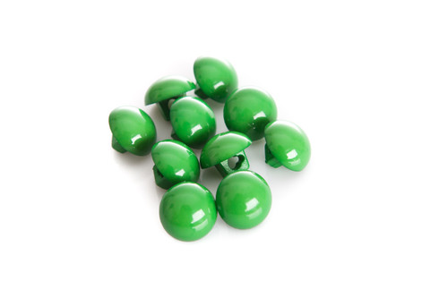 Green Shiny Half Ball Shanked Button - 11mm