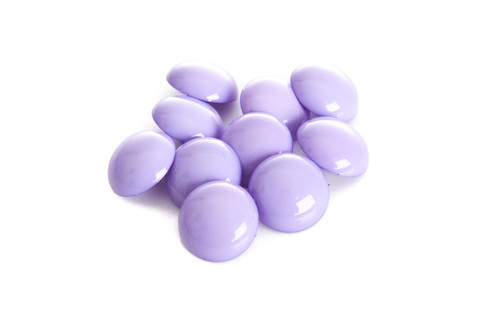 Lilac Shiny Half Ball Shanked Button - 18mm