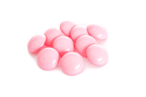 Pink Shiny Half Ball Shanked Button - 18mm