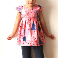 Geranium Dress (newborn to 5T) - Made by Rae Sewing Patterns