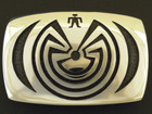 Hopi Man in the Maze Belt Buckle