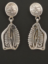 Native American Handmade Dangle Earrings by Sam Gray