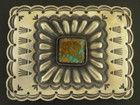 Native American Turquoise Belt Buckle by Arnold and Karlene Goodluck