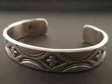Navajo Handmade Sterling Silver Cuff Bracelet