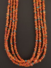 Native American Multi Strand Spiny Oyster Necklace by Marcella Teller